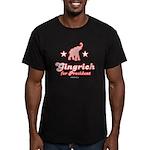 Gingrich for President Men's Fitted T-Shirt (dark)