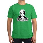 Gingrich for President Men's Fitted T-Shirt (dark)