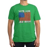 Vote for Jeb Bush Men's Fitted T-Shirt (dark)