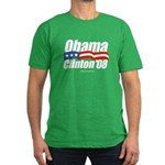 Obama Clinton 08 Men's Fitted T-Shirt (dark)