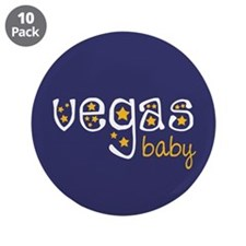 "Vegas Baby 3.5"" Button (10 pack)"