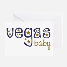 Vegas Baby Greeting Card