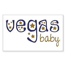 Vegas Baby Rectangle Decal