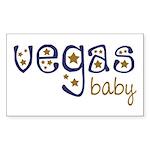 Vegas Baby Rectangle Sticker 10 pk)