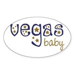 Vegas Baby Oval Sticker