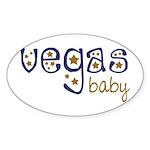Vegas Baby Oval Sticker (10 pk)