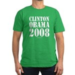 Clinton / Obama 2008 Men's Fitted T-Shirt (dark)