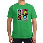 Clinton and Obama art Men's Fitted T-Shirt (dark)