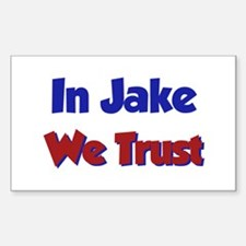 In Jake We Trust Rectangle Decal