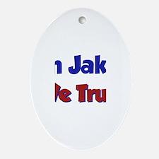 In Jake We Trust Oval Ornament