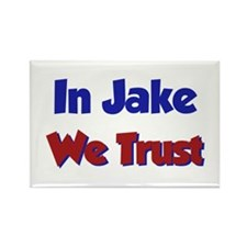 In Jake We Trust Rectangle Magnet