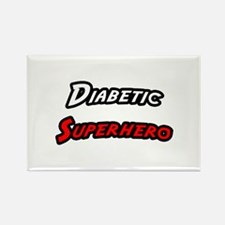 """Diabetic Superhero"" Rectangle Magnet"