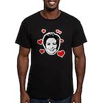 I Heart Hillary Men's Fitted T-Shirt (dark)