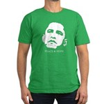 Obama 2008: Peace and Hope Men's Fitted T-Shirt (d