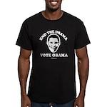 End the drama, Vote Obama Men's Fitted T-Shirt (da