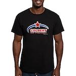 Colbert for President Men's Fitted T-Shirt (dark)