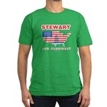 Stewart for President Men's Fitted T-Shirt (dark)