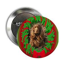 Sussex Spaniel Christmas Button