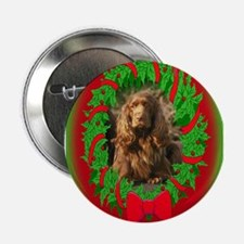 Sussex Spaniel Christmas Button