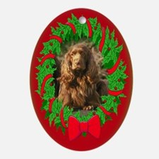 Sussex Spaniel Christmas Oval Ornament