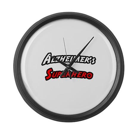"""Alzheimer's Superhero"" Large Wall Clock"