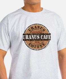 Funny Uranus Cafe Coffee Logo T-Shirt