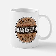 Funny Uranus Cafe Coffee Logo Mug