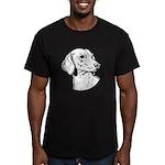Dachsund Men's Fitted T-Shirt (dark)