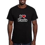 I love Paris Men's Fitted T-Shirt (dark)