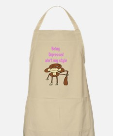 """""""Being Depressed ain't my sty BBQ Apron"""