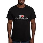 I Love Newfoundlands Men's Fitted T-Shirt (dark)