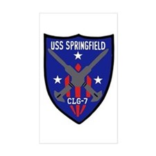 USS Springfield (CLG 7) Rectangle Decal
