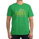 Green is the new black Men's Fitted T-Shirt (dark)