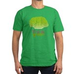Think Green Men's Fitted T-Shirt (dark)