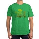 Trees are for hugging Men's Fitted T-Shirt (dark)