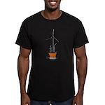 Wind Flower Men's Fitted T-Shirt (dark)
