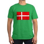Danish / Denmark Flag Men's Fitted T-Shirt (dark)