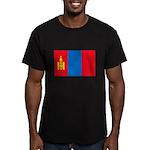 Mongolian Flag Men's Fitted T-Shirt (dark)