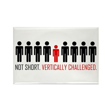 Vertically Challenged Rectangle Magnet (10 pack)