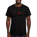 I love Liberia Men's Fitted T-Shirt (dark)