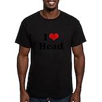I love head Men's Fitted T-Shirt (dark)