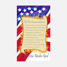 Ten Commandments Rectangle Decal
