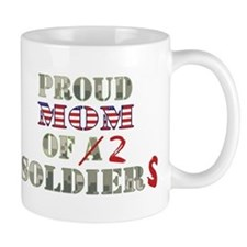 Proud Mom of 2 Soldiers Mug