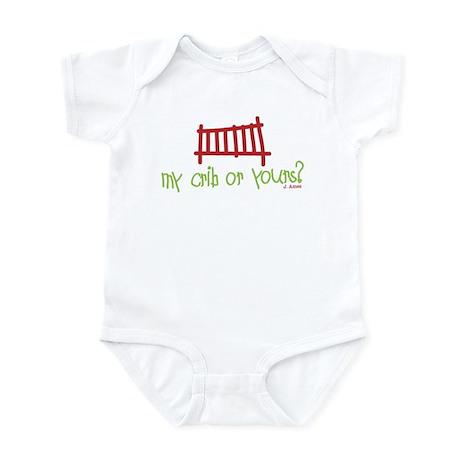 Baby Crib Illustration Infant Bodysuit