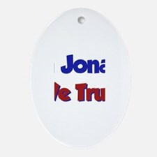 In Jonah We Trust Oval Ornament