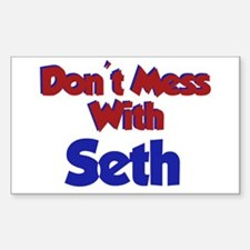 Don't Mess Seth Rectangle Decal