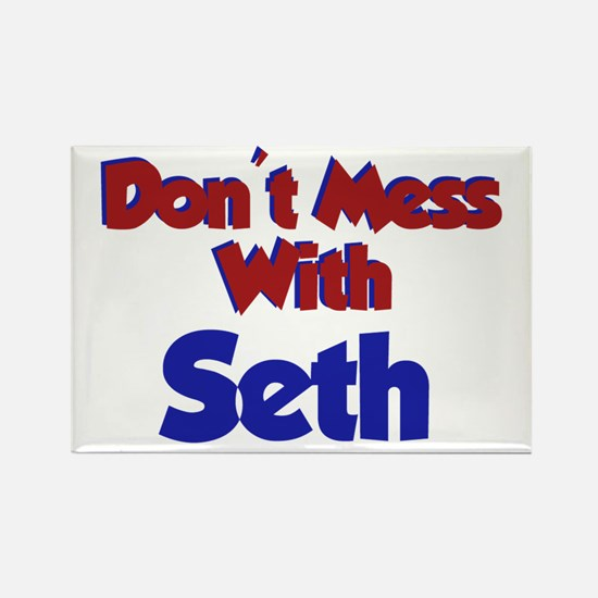 Don't Mess Seth Rectangle Magnet