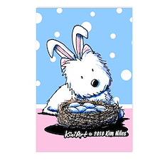 Easter Rabbit Westie Postcards (Package of 8)
