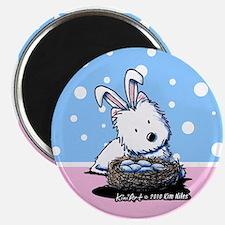 Easter Rabbit Westie Magnet