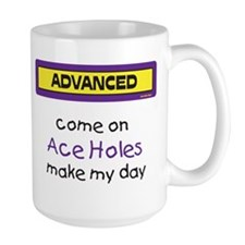 Large Come on Ace Holes Mug (Purple and Yellow)